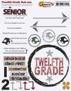 Twelfth Grade Academics Rub-ons for Scrapbooking