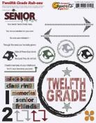 Twelfth Grade Academics Rub-ons for Scrapbooking