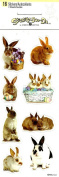 BUNNY EASTER PHOTO STICKERS