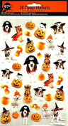 DOG PIRATES CANDY CORN AND SCARRY PUMPKINS STICKERS