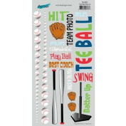 T-Ball Tee Ball Rub-ons for Scrapbooking