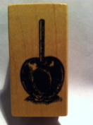 Candy Apple Rubber Stamp