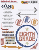 Eighth Grade Academics Rub-ons for Scrapbooking