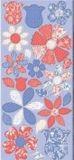 Fanciful Flowers Narratives Chipboard Scrapbook Stickers