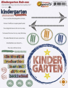 Kindergarten Academics Rub-ons for Scrapbooking