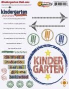 Kindergarten Academics Rub-ons for Scrapbooking