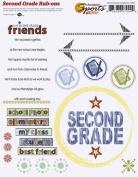 Second Grade Academics Rub-ons for Scrapbooking