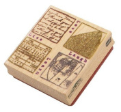 Nostalgiques, The Attic Collection by Rebecca Sower Rubber Stamp - Live, Love, Laugh, Learn