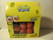Spongbob Squarepants Sticker Pods - 20 Pods, Each with 5 Stickers