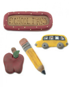 Scrapper Set - Set of 4 School Days with Bus Accessories