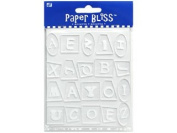 Westrim Paper Bliss Accents - Funky Shapes Acrylic (Alphabet) Letter Tiles