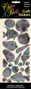 Shells and Fish Multi Colour Class A'Peels Metallic Scrapbook Stickers