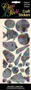 Shells and Fish Multi Colour Class A'Peels Metallic Scrapbook Stickers