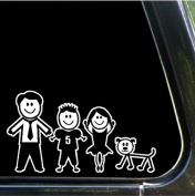 Dad, Brother, Sister. Dog Stick Family Decals Stick People Stickers