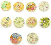 Colourful Buttons for Scrapbooking and Jewellery Design 25 Buttons Per Package with Gift Bag