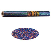 Holographic Mylar Roll- Glitter Silver 40cm x 100cm Roll