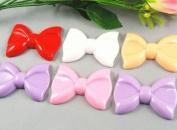 10pc 6.1cm Resin Hair Bow Flatback Button-5 Colours -