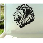MZY LLC (TM) Vinyl Wall Art Decal Sticker Safari Lion Head Powerful Mural Wallpaper Birthday Gift Car decal tatoo