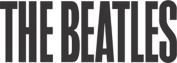 The Beatles 62 Upper Case Logo Rub-On Sticker