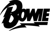 David Bowie Lightening Logo Rub-On Sticker