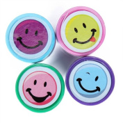 4pcs Ink Stampers Art Craft Stamps w/ Smiley Face--Can Make for A Great Activity for Kids Anytime