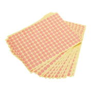 15 Sheets 10mm Round Blank Dots Label Sticker - Pink