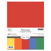 The Paper Company, P62510, Primary Cardstock Value Pack, 8-1/2 by 11