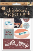 Chipboard Saying Stack - Travel & Vacation