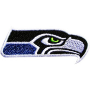 "Seattle Seahawks Logo Embroidered Iron Patches 4.1""/10.5cmx1.4""/3.5 Cm By MNC Shop"