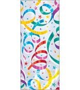 """Cellophane Party Bags 30cm hx 5""""wx 3-0.6cm d 8/pkg-party Streamers"""