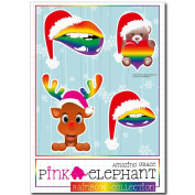 Sticker Rainbow Christmas 01 - A5-sheet