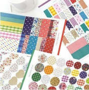 ONOR-Tech 4 Sheets Lovely Decorative Adhesive Sticker Tape / Washi Masking Sticker Tape Set