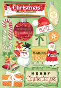 Karen Foster Design Acid and Lignin Free Scrapbooking Sticker Sheet, Christmas Time