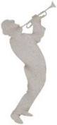 Fabscraps Die-Cut Grey Chipboard Embellishments, Musician Playing Trumpet