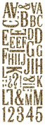 Momenta Puffy Fabric Alphabet Sticker, Cheetah