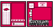 UNIFORMED University of Arkansas 2-Page Layout Decorative Paper, 20cm by 20cm