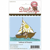 Little Darlings Unmounted Rubber Stamp-Sailboat of Dreams