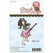Little Darlings Unmounted Rubber Stamp-Music 101