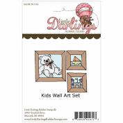 Little Darlings Unmounted Rubber Stamp-Kids Wall Art Set