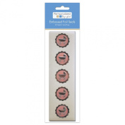 The Paper Company, 2009161, Pby Pink Carriage Foil Seal, 20Cnt