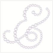 BasicGrey Opaline Designer Half Pearls, Ampersand, Pearl