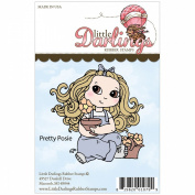 Cutie Pies Unmounted Rubber Stamp 8.3cm x 7.8cm -Pretty Posie