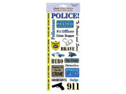 Forever In Time Clear Sticker, Policemen, 13cm x 30cm