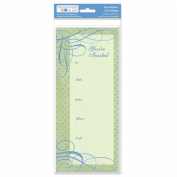 The Paper Company, 2009169, Pby Green Flourish Dot 10 Invite