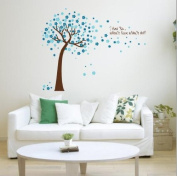 Toprate(TM)Blue Sky Sakura Flower Cherry Blossom Tree,Quote I love you, Wall Sticker Decals PVC Removable Wall Decal For Nursery Girls and Boys Children's Bedroom