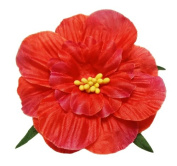 Cuteque International 6-Pack Red Soft Silk Cosmo Flower with Yellow Peep Centre, 7.6cm