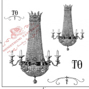 Something Tattered Crystal Chandelier Clear Stamps, 10cm by 10cm