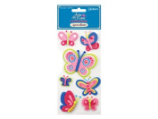 Joie de Vivre Foam-Soft 3D Butterfly Stickers