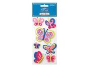 Joie de Vivre Foam-Soft 3D Butterfly Stickers