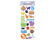 Forever In Time Clear Sticker, Kitty Kitty, 13cm x 30cm